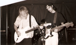 Me and Ronnie, circa 1990 at Batteries Not Included, Chicago.