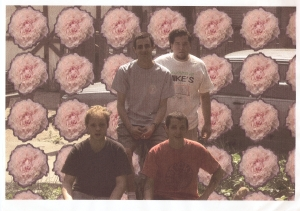 Product of Mentality circa 1996. Photo by Chris Ann Kassl. [Clockwise L to R: Adams, Kwasman, Tucker, Dolan]