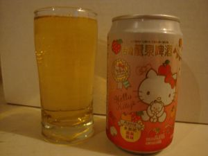Fruit beer hello kitty