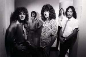 R.E.O. Speedwagon circa Hi Infidelity (1980), at the height of their popularity