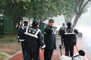 Taipei-Police-rain