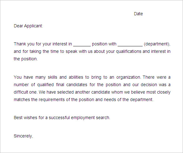 Sample-Rejection-Letter-Template